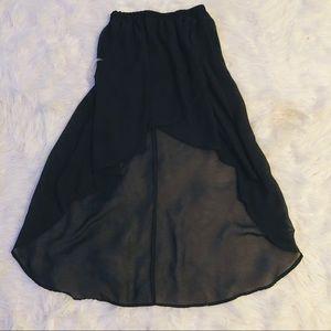 High low flowy skirt